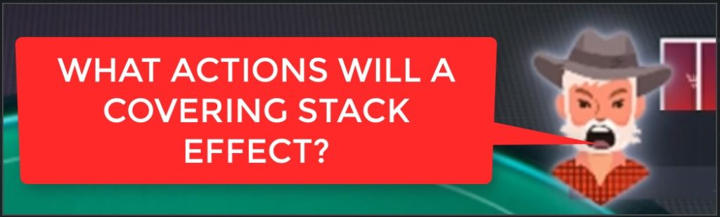 does a covering stack have an effect